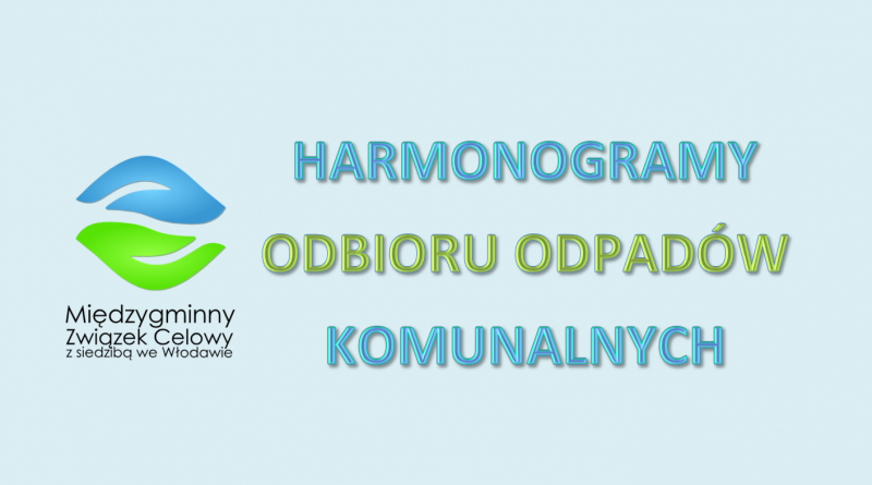 Harmonogramy odbioru odpadów dostępne