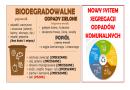 Odpady biodegradowalne – kuchenne i zielone gromadzimy oddzielnie